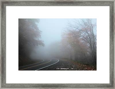 Foggy Autumn Day Framed Print by Carolyn Postelwait