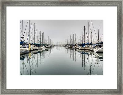 Framed Print featuring the photograph Foggy Autumn Morning  by Heidi Smith