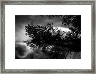 Foggy Autumn Morning On The River Framed Print