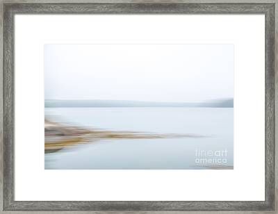 Foggy Bay 1 Framed Print by Susan Cole Kelly Impressions