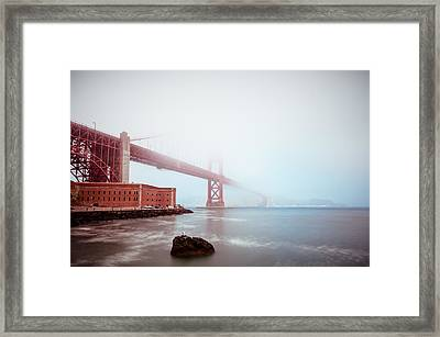 Framed Print featuring the photograph Foggy Bay by Brian Bonham