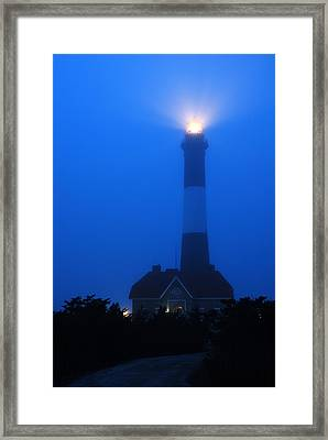 Framed Print featuring the photograph Foggy Beacon by James Kirkikis