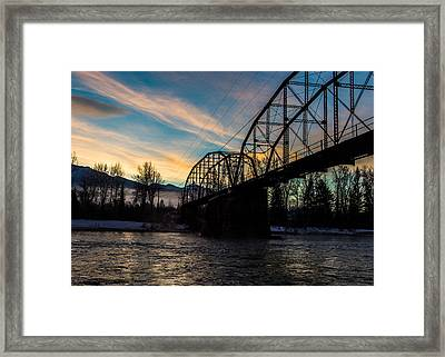 Foggy Bottom Bridge Framed Print by Aaron Aldrich