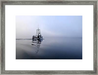 Foggy Framed Print by Cathy Mahnke