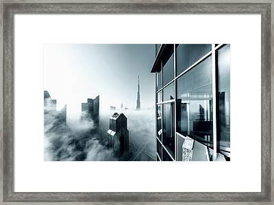 Foggy City Framed Print