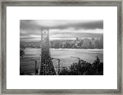 Foggy City Of San Francisco Framed Print
