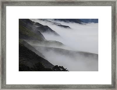 Foggy Coastal Hills Framed Print by Garry Gay