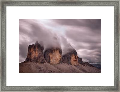 Foggy Cover Framed Print