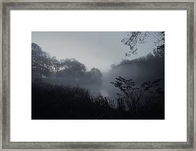 Foggy Dawn - Holmdel Park Framed Print by Angie Tirado