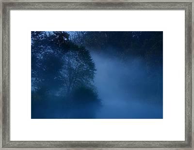 Foggy Dawn IIi- Holmdel Park Framed Print by Angie Tirado