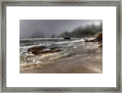 Foggy Day At Trinidad Framed Print by Mark Alder