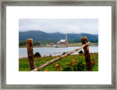 Foggy Day In Cheticamp Framed Print