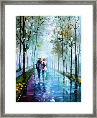 Foggy Day New Framed Print by Leonid Afremov
