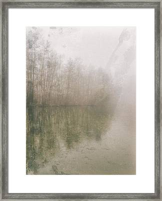Framed Print featuring the photograph Foggy Day On The Border Of The Lake by Maciej Markiewicz