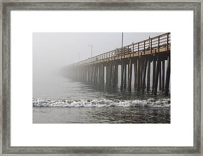 Foggy Dock Framed Print by Jim Young