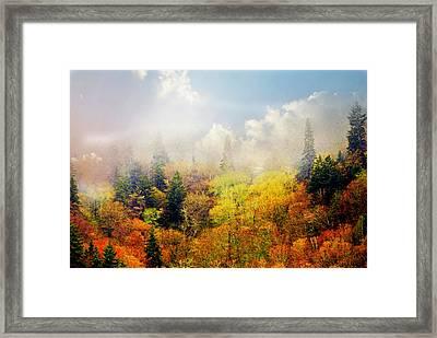 Foggy Fall Framed Print by Marty Koch
