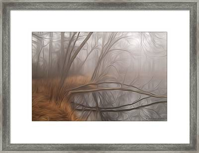 Foggy Fall Morning Framed Print