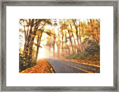 Foggy Fall Wonderland - Blue Ridge Parkway II Framed Print by Dan Carmichael