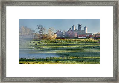 Foggy Farm Morning Framed Print by Bill Wakeley