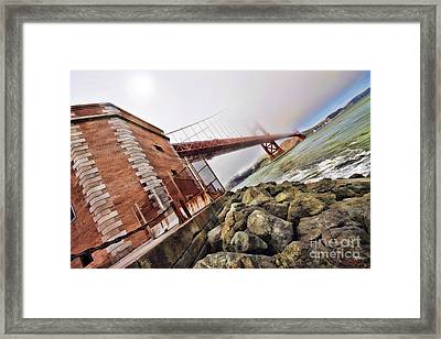 Foggy Gates Framed Print