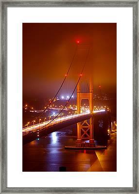 Foggy Golden Gate Framed Print