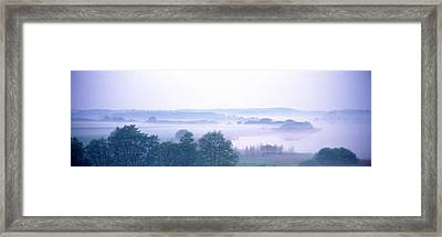 Foggy Landscape Northern Germany Framed Print by Panoramic Images