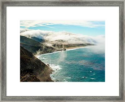 Foggy Lookout Framed Print