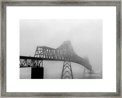 Foggy Megler Bridge Framed Print