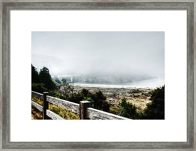 Foggy Mendocino Morning Framed Print