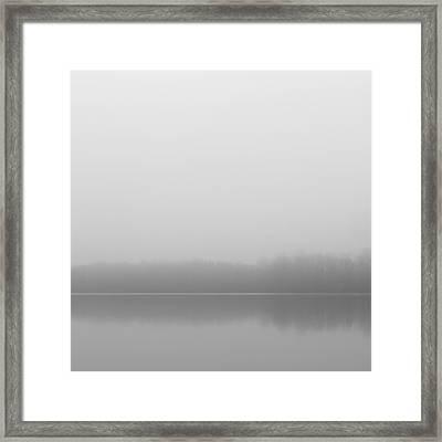 Foggy Morn At Lums Pond Framed Print