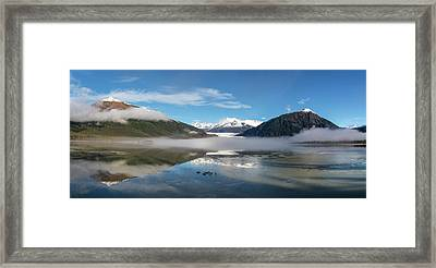 Foggy Morning At Mendenhall Lake Framed Print by John Hyde