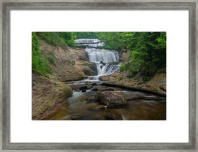 Foggy Morning At Sable Falls Framed Print