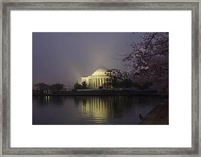 Foggy Morning At The Jefferson Memorial 1 Framed Print