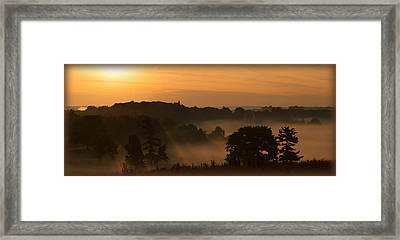 Foggy Morning At Valley Forge Framed Print