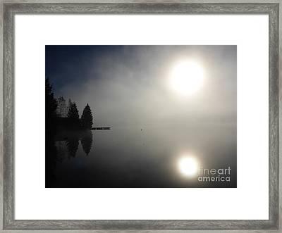 Foggy Morning Framed Print