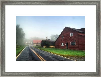 Foggy Morning In Brasstown Nc Framed Print