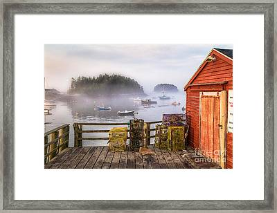 Foggy Morning In Five Islands Framed Print by Benjamin Williamson