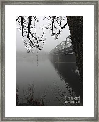 Foggy Morning In Paradise - The Bridge Framed Print