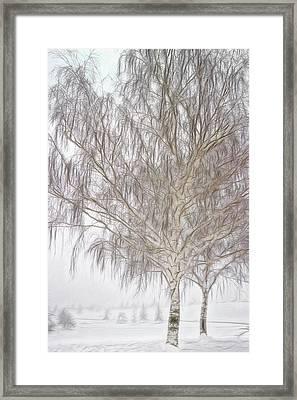 Foggy Morning Landscape - Fractalius 4 Framed Print by Steve Ohlsen