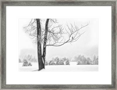 Foggy Morning Landscape - Fractalius 5 Framed Print by Steve Ohlsen