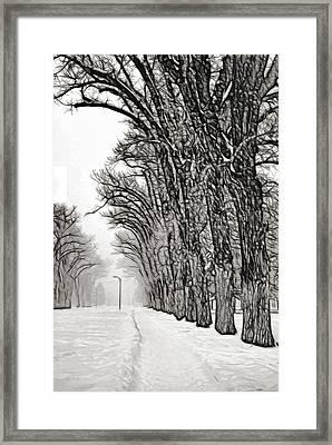 Foggy Morning Landscape - Fractalius 7 Framed Print by Steve Ohlsen