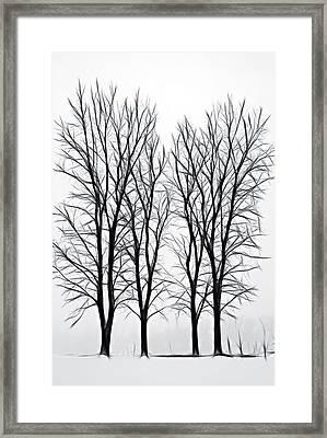 Foggy Morning Landscape - Fractalius  Framed Print by Steve Ohlsen