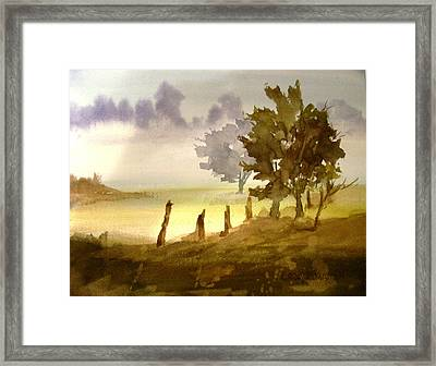 Foggy Morning Framed Print by Larry Hamilton