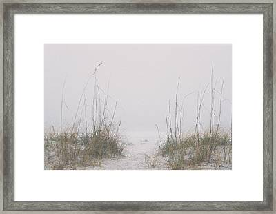 Framed Print featuring the photograph Foggy Morning by Michele Kaiser