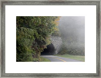 Foggy Morning On Parkway Framed Print by Melony McAuley