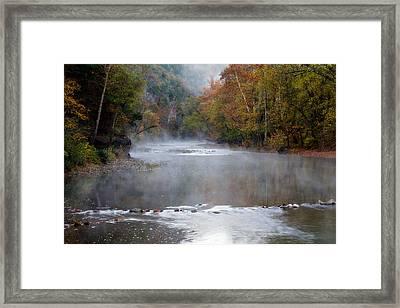 Foggy Morning On The Buffalo Framed Print