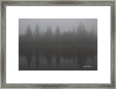 Foggy Morning On The Lake Framed Print by Charlie Duncan