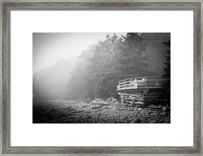 Foggy Morning Overlook Framed Print by David Pinsent