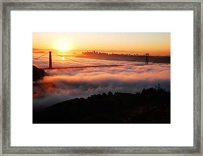 Framed Print featuring the photograph Foggy Morning San Francisco by James Kirkikis