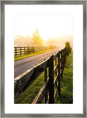 Foggy Morning Framed Print by Shelby  Young